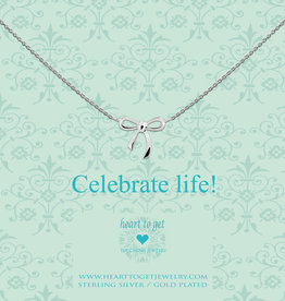Heart to Get Heart to Get ketting Bow Silver