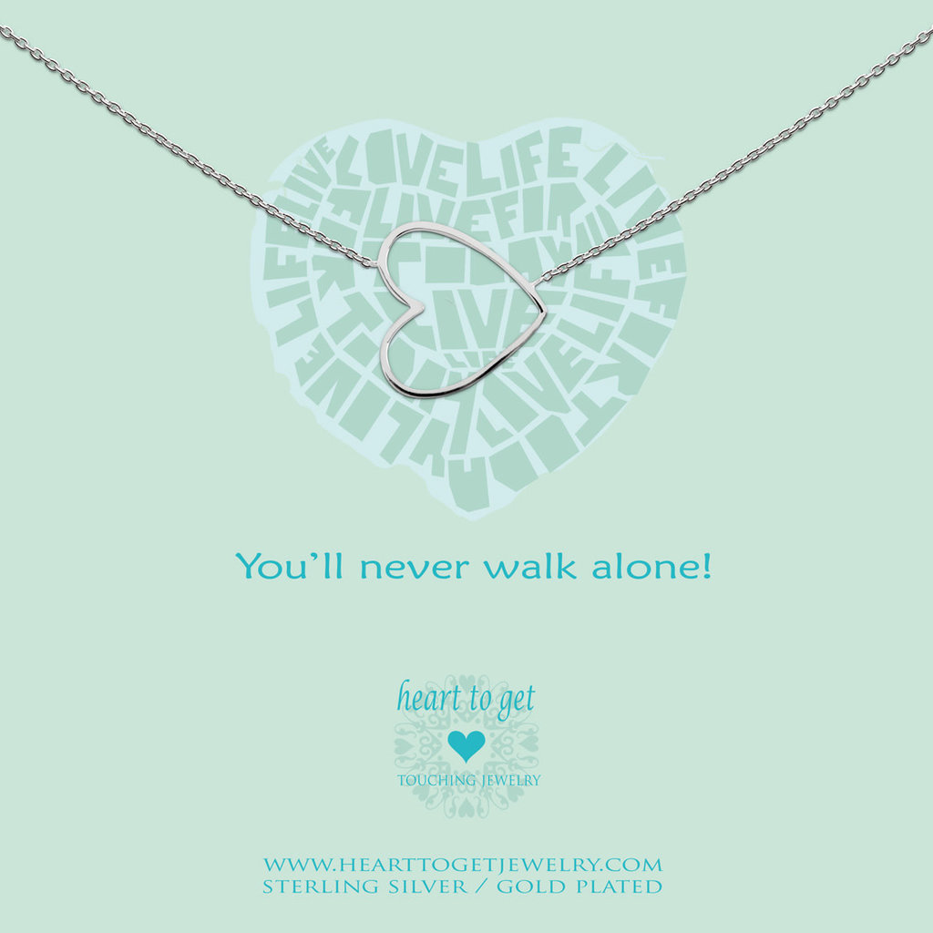 Heart to Get Heart to Get ketting Big Heart Silver