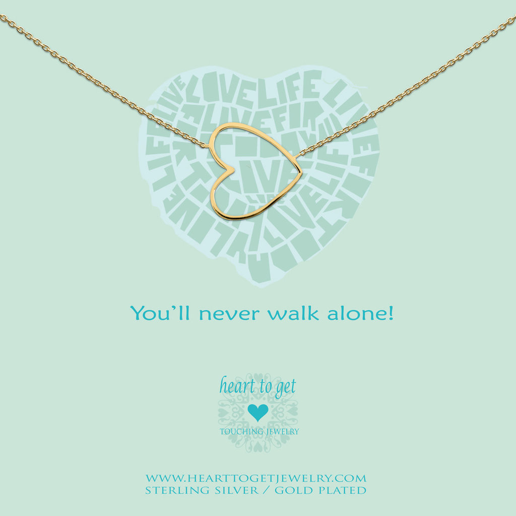 Heart to Get Heart to Get ketting Big Heart Gold Plated