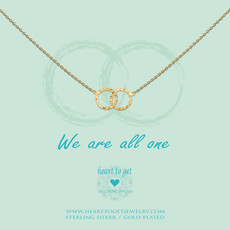 Heart to Get Heart to Get ketting Double Karma Gold Plated