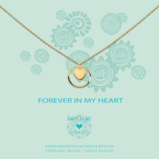 Heart to Get Heart to Get ketting Heart In Karma Ring Gold Plated