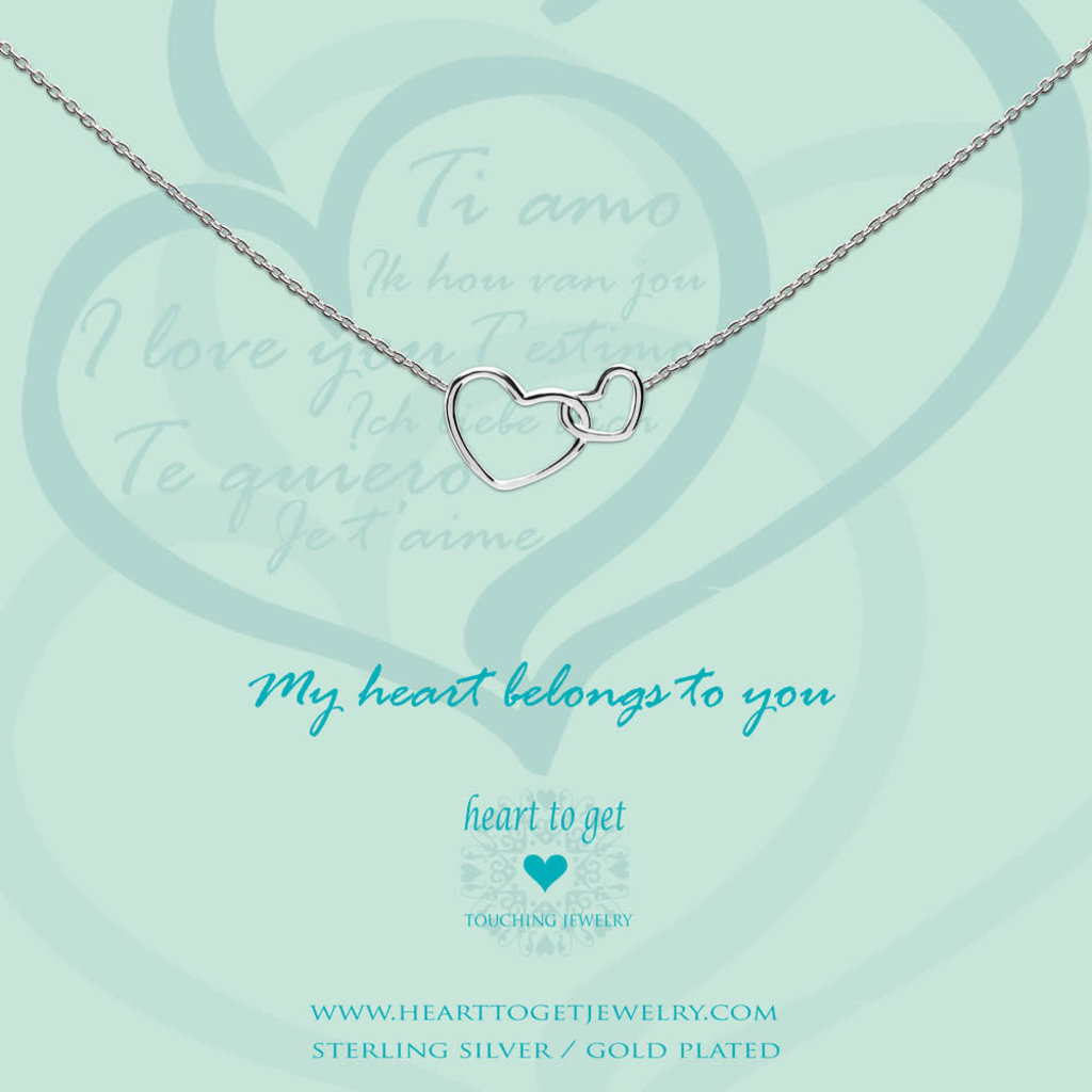 Heart to Get Heart to Get ketting Entwined Hearts Silver