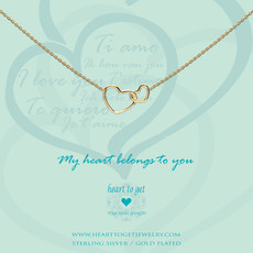 Heart to Get Heart to Get ketting Entwined Hearts Gold Plated