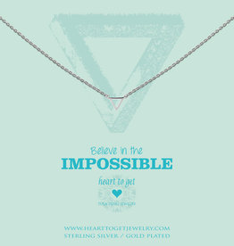 Heart to Get Heart to Get ketting Small Triangle Silver