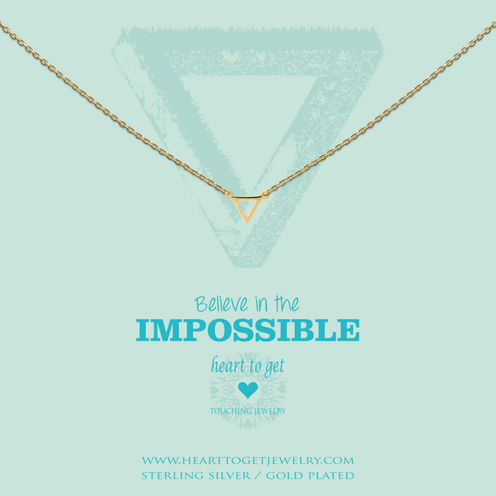 Heart to Get Heart to Get ketting Small Triangle Gold Plated