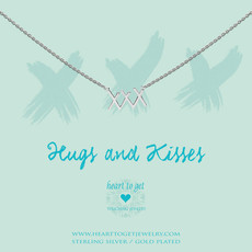 """Heart to Get Heart to Get ketting """"XXX"""" Silver"""