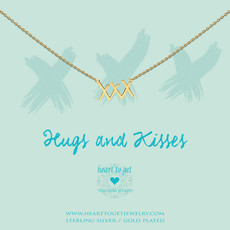 "Heart to Get Heart to Get ketting ""XXX"" Gold Plated"