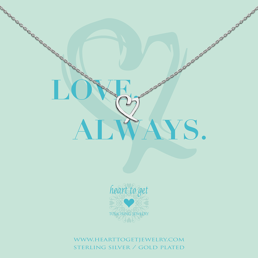 Heart to Get Heart to Get ketting Heart Silver