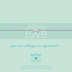 Heart to Get Heart to Get armband Infinity Silver