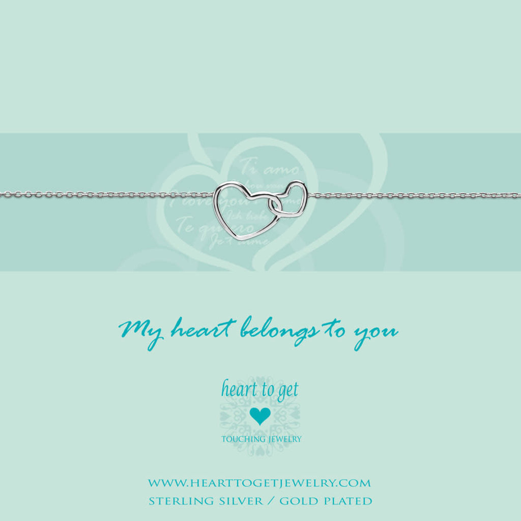 Heart to Get Heart to Get armband Entwined Hearts Silver