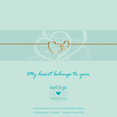 Heart to Get Heart to Get armband Entwined Hearts Gold Plated