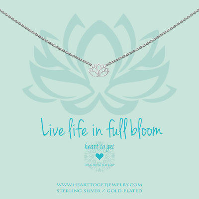 Heart to Get Heart to Get ketting Lotus Silver
