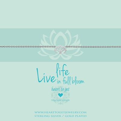 Heart to Get Heart to Get armband Lotus Silver