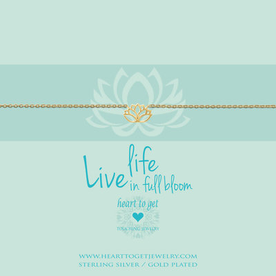 Heart to Get Heart to Get armband Lotus Gold Plated