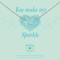 Heart to Get Heart to Get ketting Open Heart Sparkle  Silver