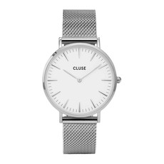CLUSE CLUSE horloge Boho Chic Mesh Silver/White