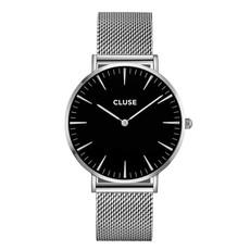 CLUSE CLUSE horloge La Bohème Mesh Silver/Black