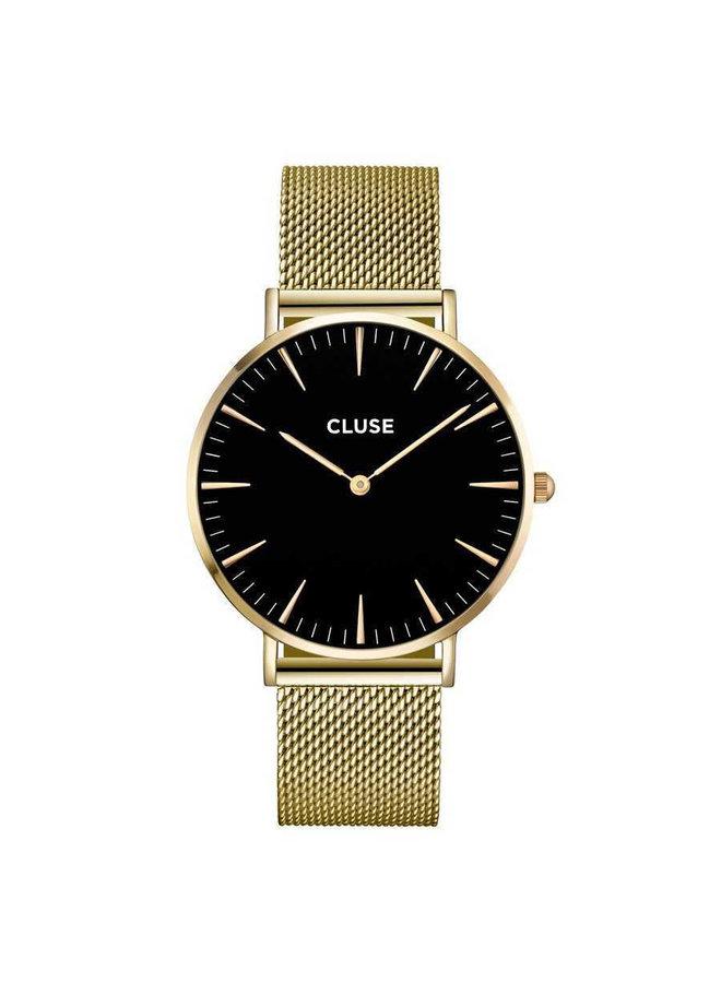 CLUSE horloge Boho Chic Mesh Gold/Black