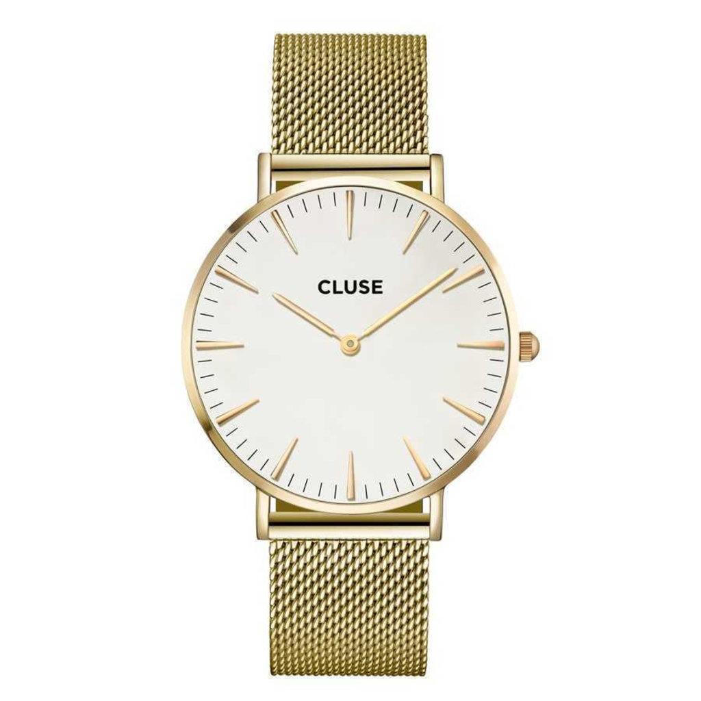CLUSE CLUSE horloge La Bohème Mesh Gold/White