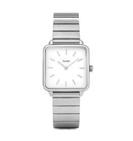 CLUSE CLUSE horloge La Tétragone Single Link Silver/White