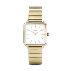 CLUSE CLUSE horloge La Tétragone Single Link Gold/White