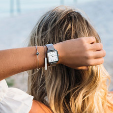 CLUSE CLUSE horloge La Tétragone Mesh Silver/White