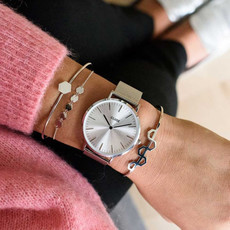 CLUSE CLUSE horloge La Bohème Mesh Full Silver