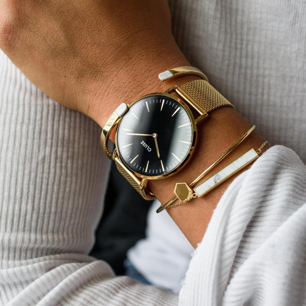 CLUSE CLUSE horloge Boho Chic Mesh Gold/Black