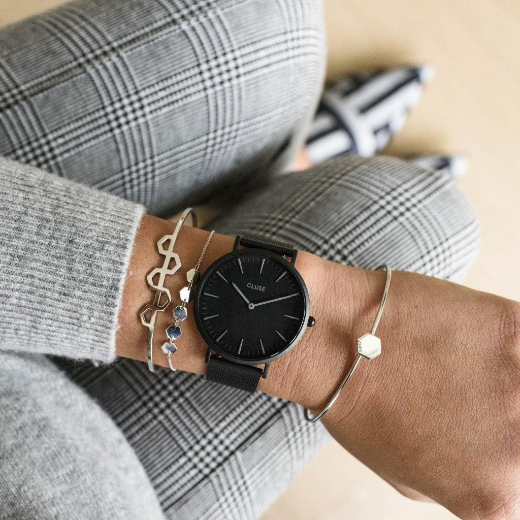 CLUSE CLUSE horloge Boho Chic Mesh Full Black