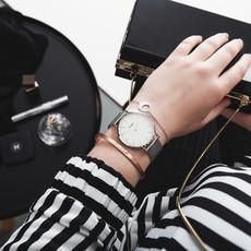 CLUSE CLUSE horloge La Bohème Mesh Silver/White