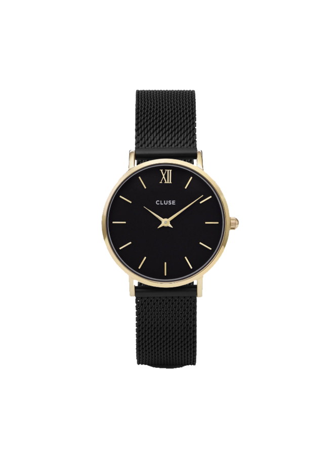 CLUSE horloge Minuit Mesh Black/Gold