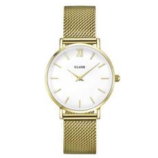 CLUSE CLUSE horloge Minuit Mesh Gold/White