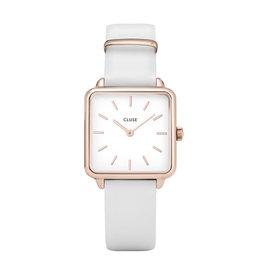 CLUSE CLUSE horloge La Tetragone Rosé Gold White/White