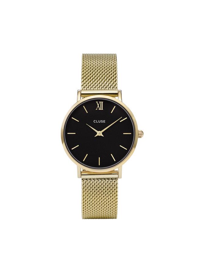 CLUSE horloge Minuit Mesh Gold/Black