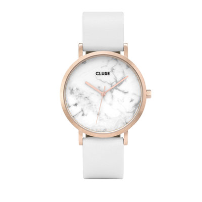 CLUSE CLUSE horloge La Roche Rosé Gold White Marble /White