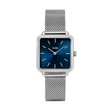 CLUSE CLUSE horloge La Tétragone Mesh Silver/Blue