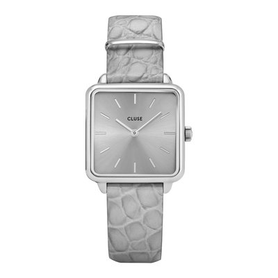 CLUSE CLUSE horloge La Tétragone Silver/Grey