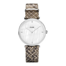 CLUSE CLUSE Triomphe Python Silver/White Pearl CL61009