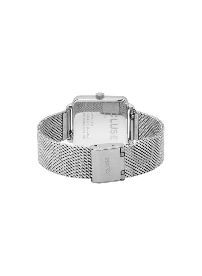 CLUSE horloge La Tétragone Mesh Silver/Blue