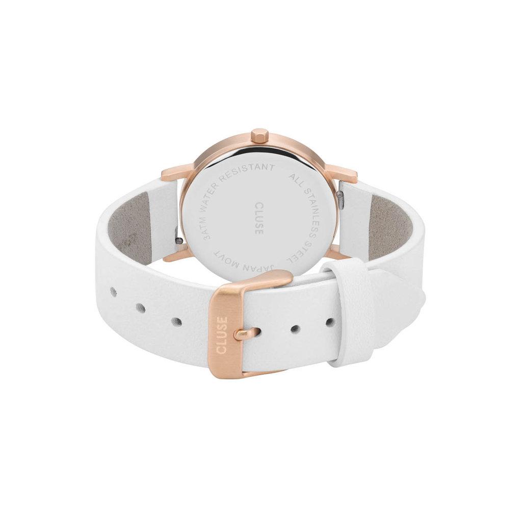 CLUSE CLUSE horloge La Roche Rosé Gold White Marble/White
