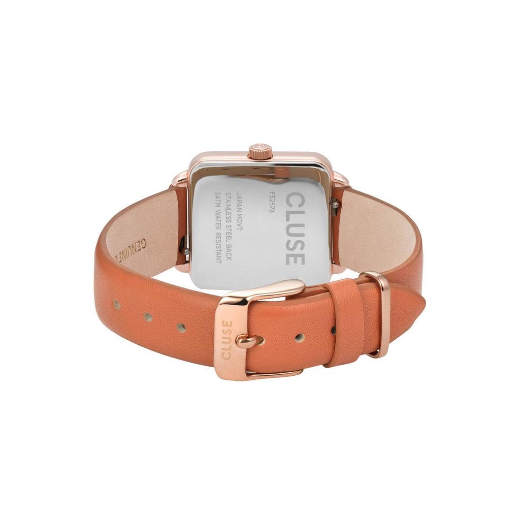 CLUSE CLUSE horloge La Tetragone Rose Gold/Butterscotch