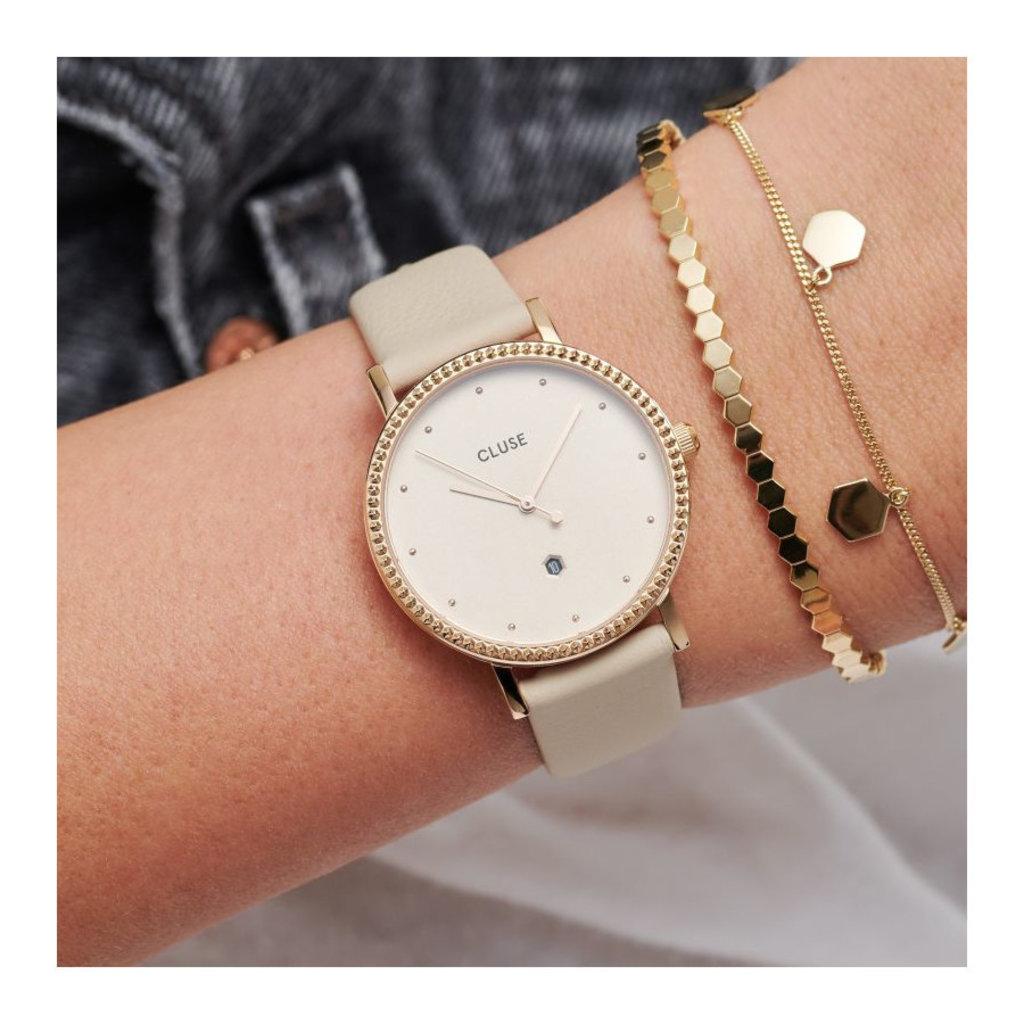 CLUSE CLUSE horloge Le Couronnement Gold/Gold Dust