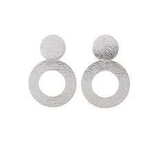 Hinth Hinth oorbellen Jaipur Classy Circles Silver