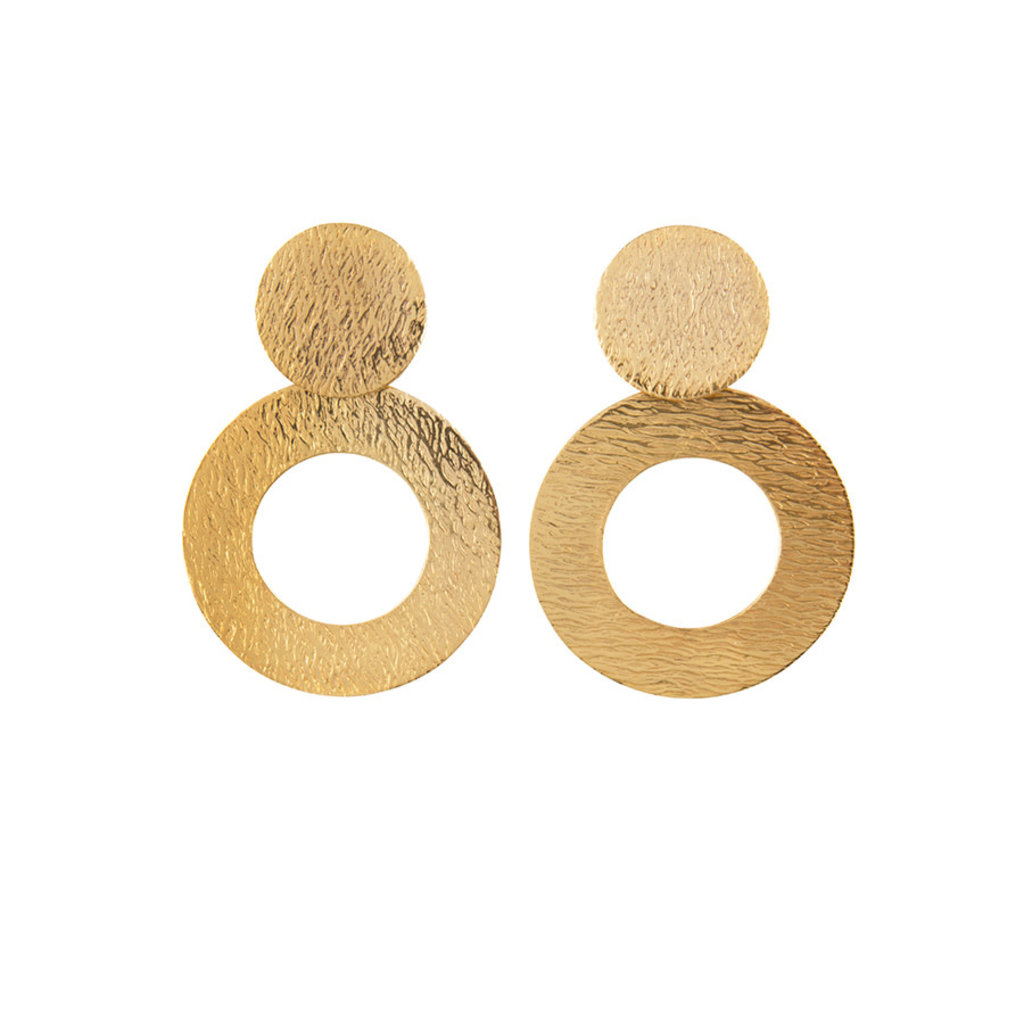 Hinth Hinth oorbellen Jaipur Classy Circles Gold Plated