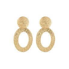 Hinth Hinth oorbellen Classy Oval Gold Plated