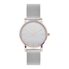 IKKI IKKI horloge Jamy JM08 Silver Rosé Gold