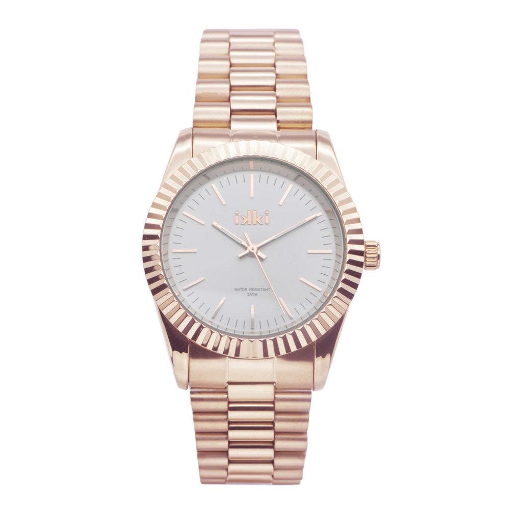 IKKI IKKI horloge Knox KN02 Rosé Gold Plated/Silver
