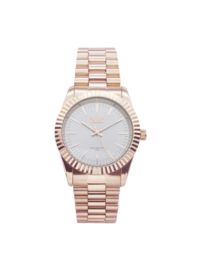 IKKI horloge Knox KN02 Rosé Gold Plated/Silver
