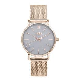 IKKI IKKI horloge Morris MS02 Rosé Gold White Marble
