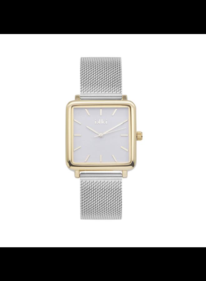 IKKI horloge Tenzin TE10 Silver/Gold/White